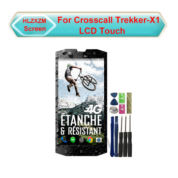 For CROSSCALL TREKKER-X1 LCD Display With Touch Screen Digitizer Assembly Replacement With Tools+3M Sticker