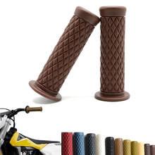 Guidão universal para motocicleta, 2 peças 25mm, preto, para honda, bubber, clubman, personalizado