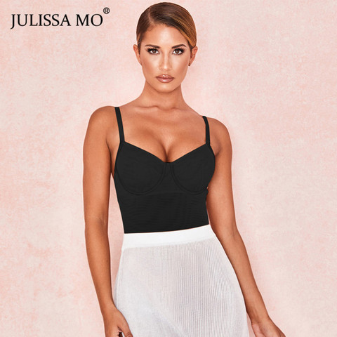 JULISSA MO Black Double Layer Mesh Bodysuits Women Sexy V Neck Transparent Rompers Summer Camis Strap Backless Party Overalls Karachi