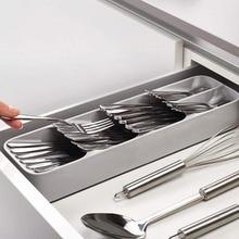 Практичный органайзер ящик лоток ложка, столовые приборы разделения отделки стеллаж для хранения коробка столовые приборы Органайзер, кухонные аксессуары Органайзер