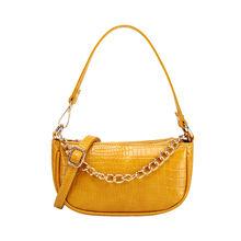 Модная сумка для покупок с крокодиловым узором ретро повседневные