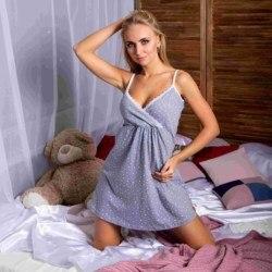 Atoff home shirt D 67 (Placer en azul/guisantes en rosa)