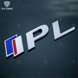 Image 2 - Car Sticker For Infiniti Q50 Q50S IPL Emblem 3.7 Emblem S logo red blue 1Pcs Rear Trunk Emblem Badge Sticker Decals Car Styling