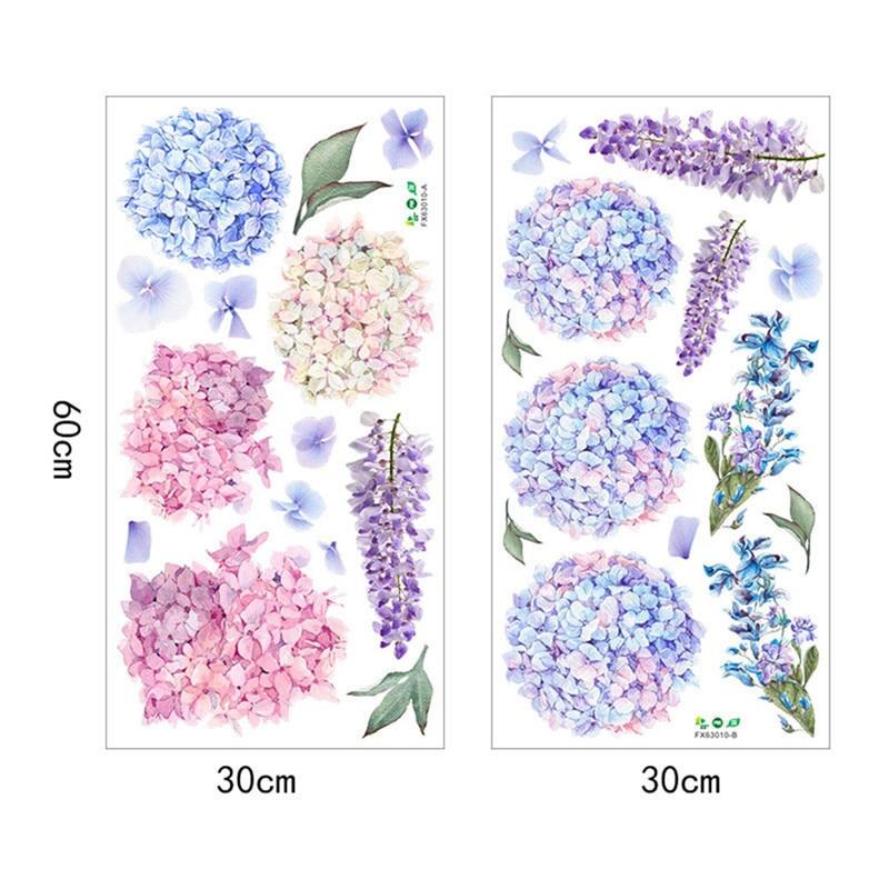 1Pc Purple Lavender Flower Ball PVC Wall Sticker DIY Bedroom Wall Xmas Decor