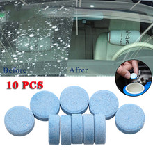 10 unidades/pacote (1 pçs = 8l água) limpador de carro sólido fino seminoma limpador de janela auto limpeza carro pára-brisa vidro mais limpo acessórios do carro