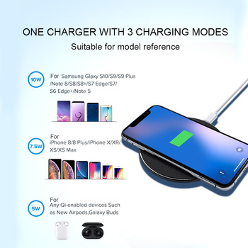 Olaf 18W Qi Wireless Charger Receiver for iPhone Xs Max X 8 Plus Fast Charging Pad for Samsung Note 9 S10 Plus chargeur sans fil 5