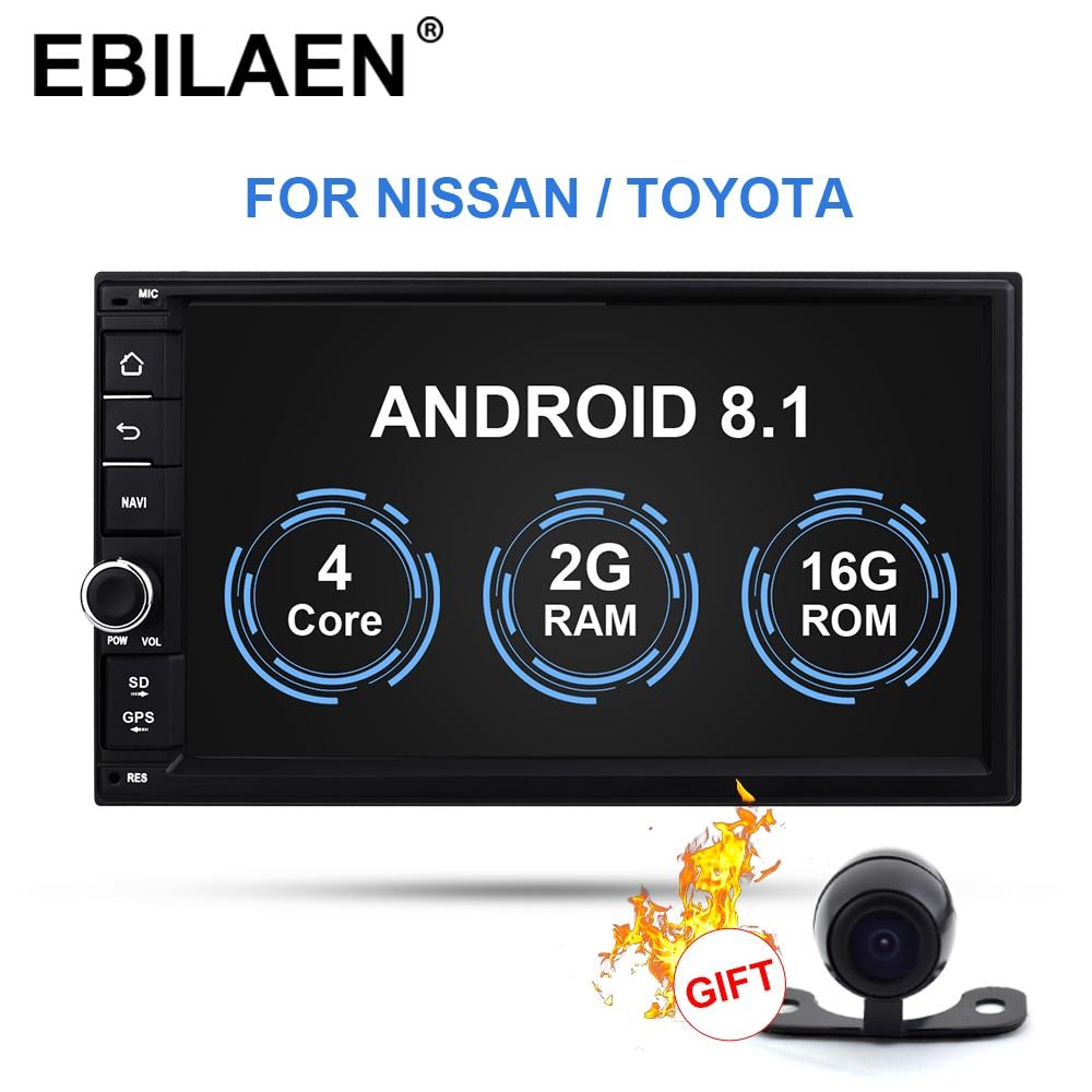 EBILAEN 2Din Android 8.1 universel voiture multimédia pour Nissan/Toyota/Corolla/VW Radio cassette lecteur navigateur caméra de recul