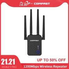 Comfast Amplificador de señal de largo alcance, extensor Wifi inalámbrico de 1200Mbps, repetidor Wifi/Router de banda Dual de 2,4 y 5,8 Ghz