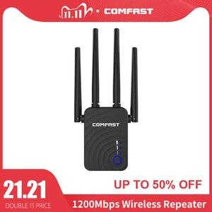 Image 1 - Comfast cf 1200 150mbps のワイヤレス無線 lan エクステンダー無線 lan リピータ/ルーターのデュアルバンド 2.4 & 5.8 ghz 4 wi fi アンテナ長距離信号アンプ