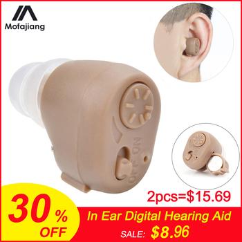 K-86 bateria do aparatu słuchowego Mini niewidoczna w uchu cyfrowa regulacja dźwięku wzmocnienie zatyczki do uszu wzmacniacz dźwięku narzędzie do pielęgnacji uszu tanie i dobre opinie MOFAJIANG hearing aid Digital Hearing Aid Sound Amplifier Adjustable Mini Invisible In Ear