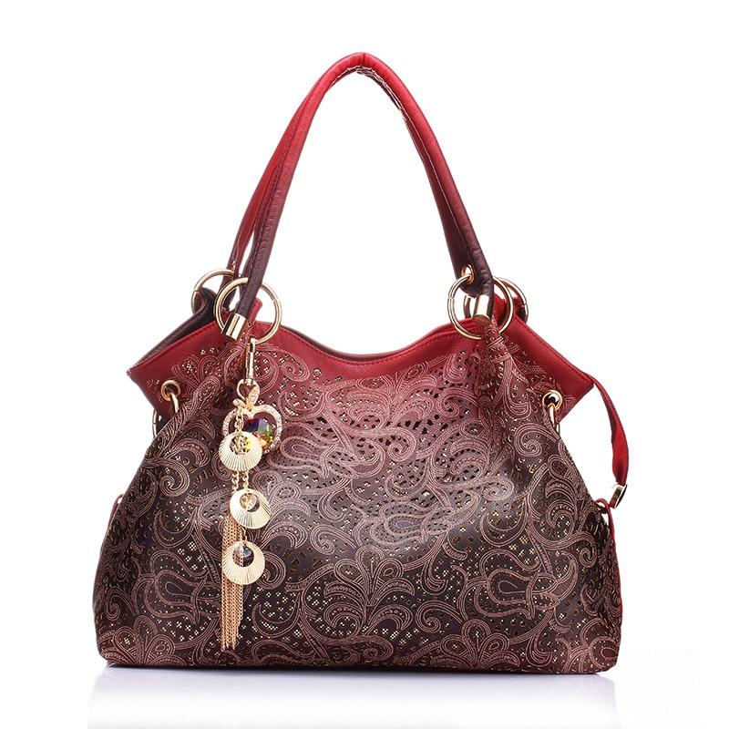 BELLELIFE Vintage Floral Print Handbag for Women Luxury Leather Flower Tote Ladies Shoulder Bag Female Fashion Clutches