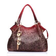 купить BELLELIFE Vintage Floral Print Handbag for Women Luxury Leather Flower Tote for Ladies Shoulder Bag Female Fashion Tote Clutches по цене 1286.99 рублей