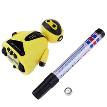 Plastic Automatic Induction Robot Inductive Route Educational Toys Robot Yellow