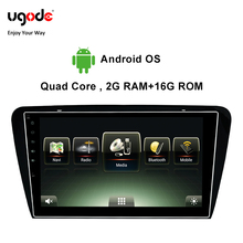 Ugode Car Multimedia Player GPS Navigation 10.1 Inches Screen Monitor Bluetooth Android OS For 2014 Skoda Octavia Deckless