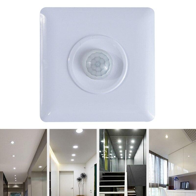 110-240V czujnik podczerwieni wykrywacz ruchu ścienna led światło dla alarm antywłamaniowy system alarmowy do domu