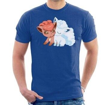 New Printed Funny Men Vulpix Love T-Shirt