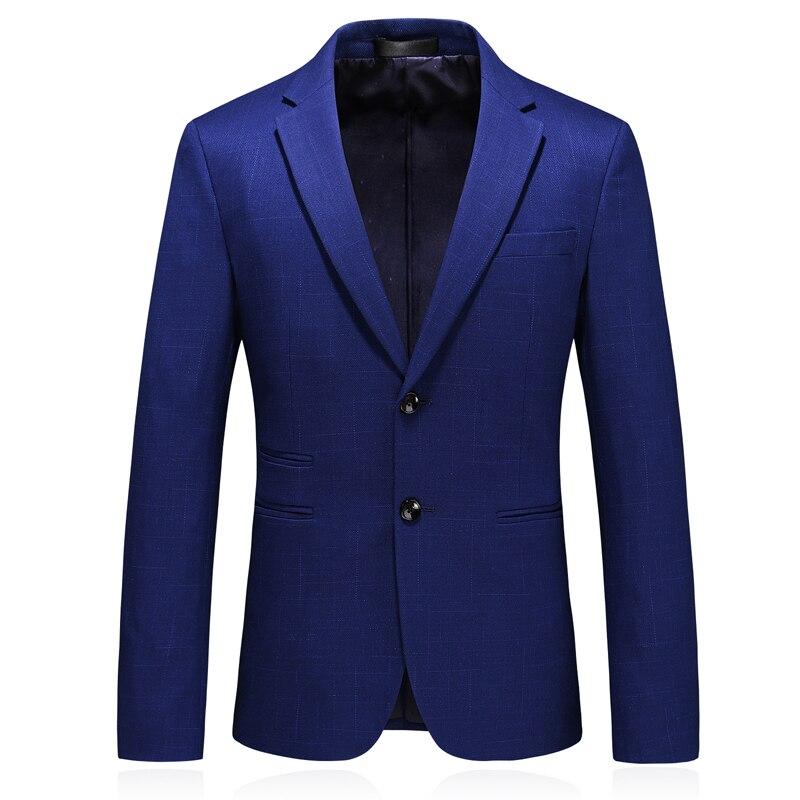 MarKyi 2019 осенний однокнопочный мужской бейзер пиджак классический мужской плюс размер 5xl slim fit костюм, пиджак в клетку для мужчин