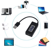 Écran LCD Mini téléphone créatif testeur USB Portable médecin tension compteur de courant chargeur de puissance Mobile détecteur