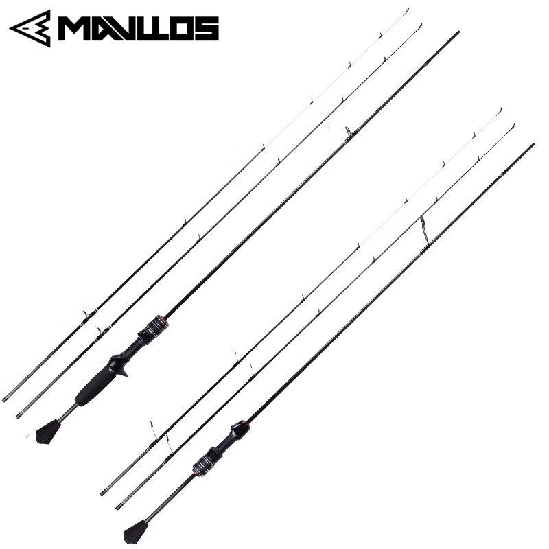 Mavllos DELICACY 2 Tips UL/L Power Casting Spinning Winter Fishing Rod Ultralight Carbon Fiber L.W 0.6-8g Fishing Rod Pole Pesca