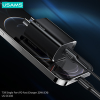 USAMS 20W PD Fast Charger PD3.0 QC3.0 QC2.0 Type C Quick Charge For Iphone 12 Pro Max 11 8 Ipad Huawei P30 p40 Xiaomi Samsung Charger