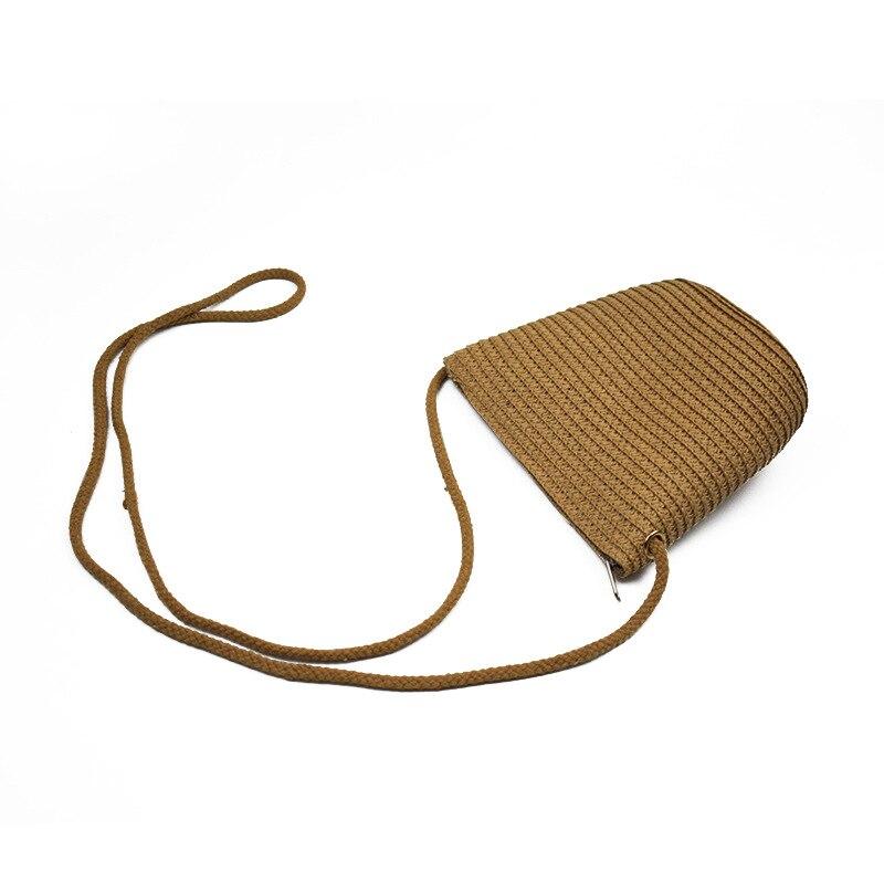 New Style Solid Color Purse WOMEN'S Bag Shoulder Bag Shoulder Bag Straw Bag Hot Selling