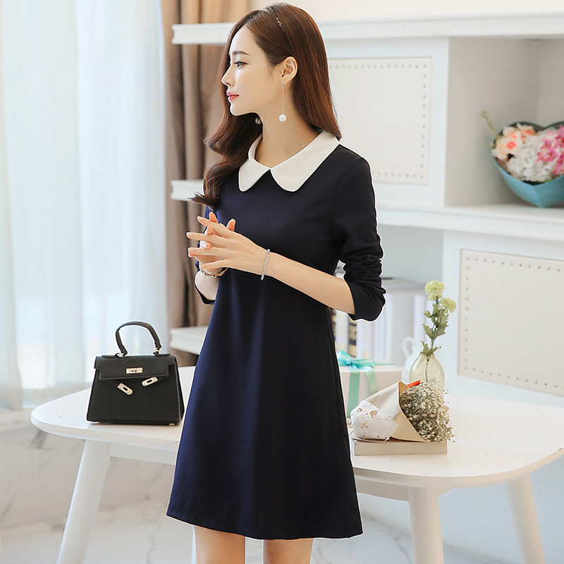 New Female Dress Woman Casual Loose Elegant Dress Business Office Slim Dress|Dresses|   - AliExpress