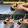 "7pcs 3"" Car Sponge Polishing Pad Set Polishing Buffer Waxing Adapter Drill Kit for Auto Body Care Headlight Assembly Repair 2"