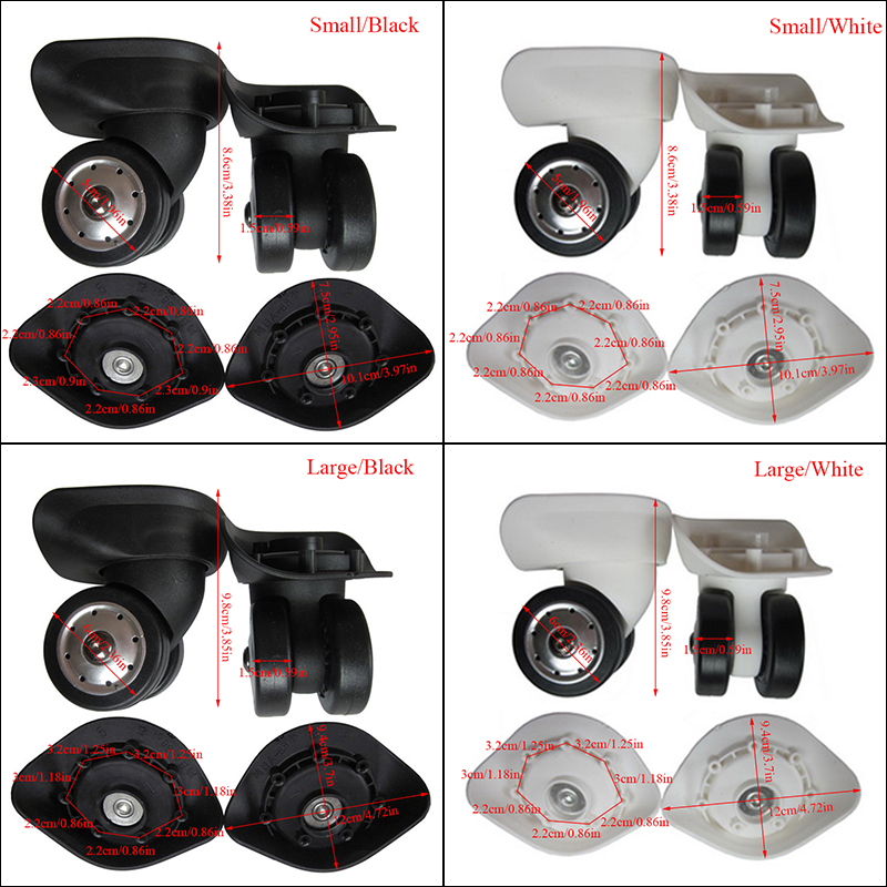 A88 Luggage Wheels Two Size Replacement  Wheel Factory Direct Sale Deluxe Repair Tool Casters Suitcase Wheels Accessories Hot