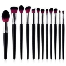 12Pcs Makeup Brushes Set Eye Shadow Blending Eyeliner Eyelash Eyebrow Make up Brushes Professional Eyeshadow Brush T12031 недорого