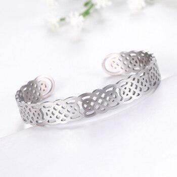 Bracelets manchette Viking Lemegeton noeud irlandais Bracelet noeud celtique hommes femmes amulette bijoux Talisman Bracelet acier inoxydable (Copie) 9
