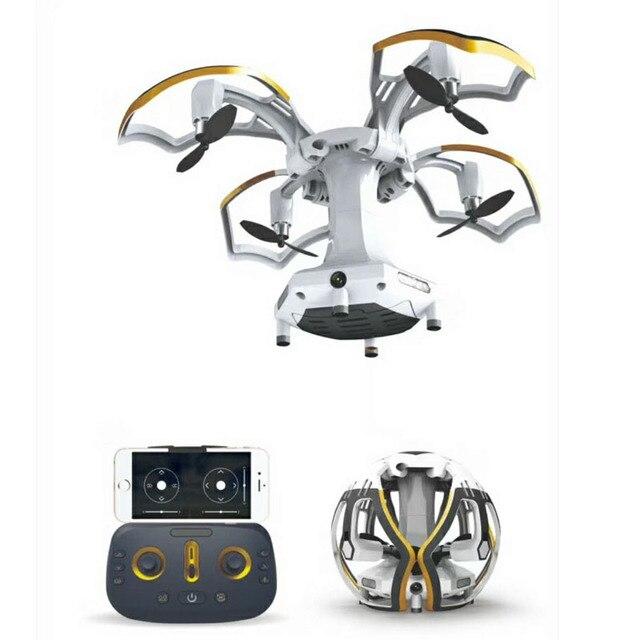 Mini Drone pliant quadrirotor Durable Altitude tenir sphérique télécommande hélicoptère longue durée de vie de la batterie WiFi HD caméra Drone