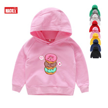 Childrens Printed Lovely Doughnuts Hoodies & Sweatshirts Boys and Girls Like The Cotton Vest for Ages Girl