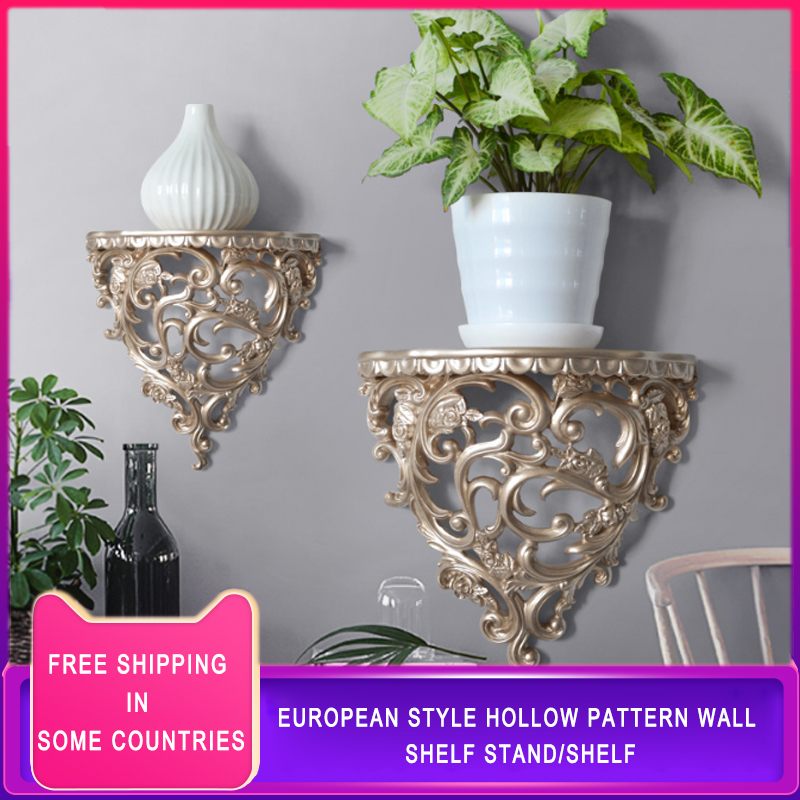 European style creative wall mounted resin three dimensional shelves partition shelves for room wall decorations TV Furnishing