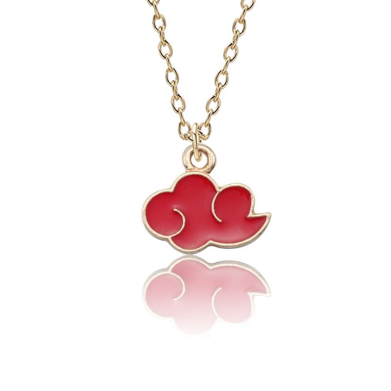 Мужская и женская металлическая подвеска ожерелье японского аниме Red Cloud Logo Organization Jewelry Accessories