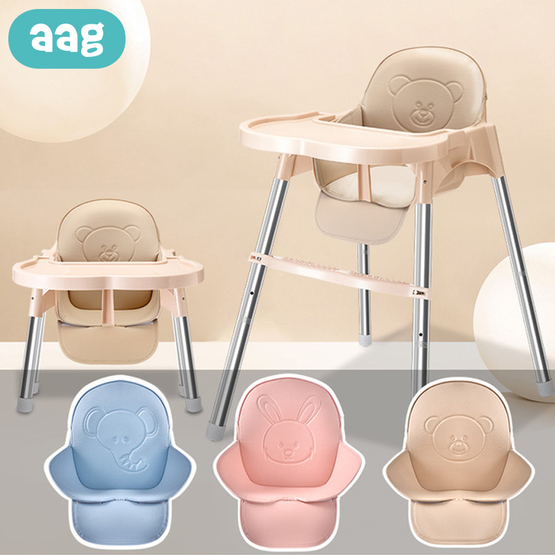 AAG PU Leather Baby Highchair Cushion Pad Mat Waterproof Child Kids Booster Seats Cushion Pads Mat For Children Dining Chair Pad