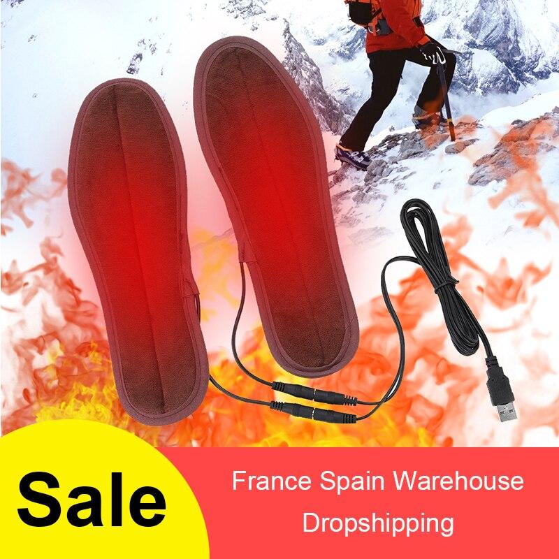1 пара USB стельки для обуви с подогревом, согревающие стельки для ног, теплые носки, коврик, зимние уличные спортивные стельки, Теплые Зимние Стельки|Стельки|   | АлиЭкспресс