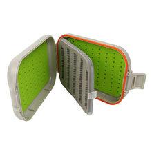 Aventik Waterproof Swing Leaf Box Silicone Fly Fishing Tackle Box Foam Box