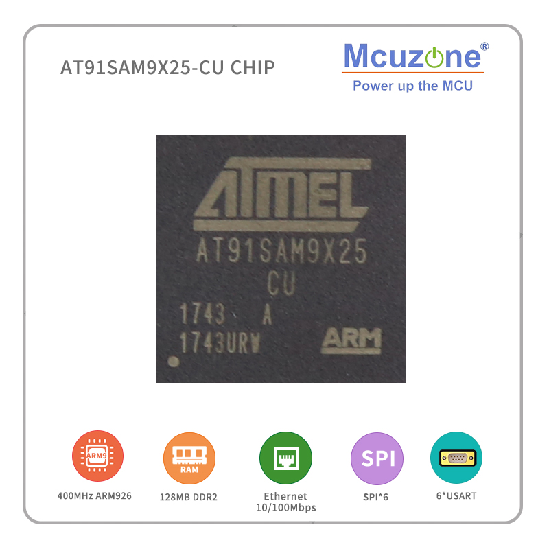 AT91SAM9X25-CU ( ATMEL ARM9 ) CHIP  CAN  USB RJ45 UART 16+