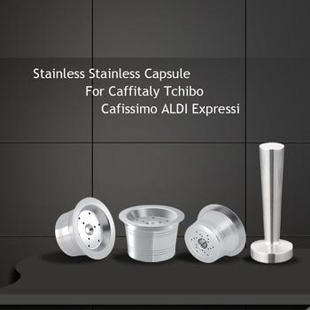 Para Caffitaly Tchibo Cafissimo ALDI Expressi rellenable k-fee cápsulas de café filtros...