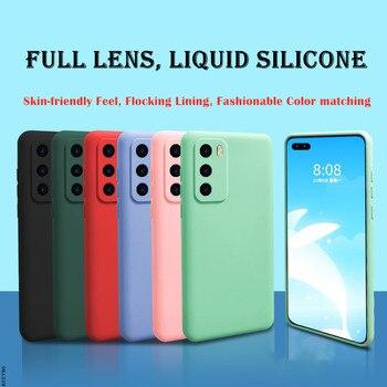 Защитный чехол из жидкого силикона для камеры RedMi 9 9A NOTE 7 8 K20 K30 Pro 10X 9C K30S, мягкий резиновый противоударный чехол карамельного цвета
