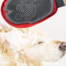 Pet Massage Comfortable Sticky Hair Brush 2019 New Touch Deshedding Brush Glove Pet Dog Cat Gentle Massage Grooming(China)