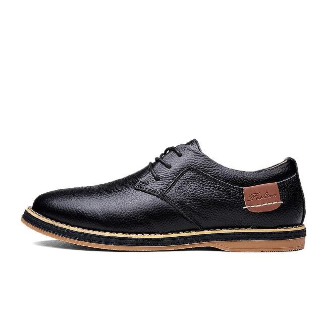Мужские туфли оксфорды из натуральной кожи 3