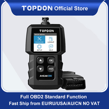 Topdon AL300 OBD2 Car Diagnostics Tool Volledige Obdii Scanner Code Reader Turn Off Motor Licht Automotive Scanner Pk CR319 ELM327