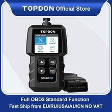 Topdon AL300 OBD2เครื่องมือวินิจฉัยรถยนต์ OBDII เต็มรูปแบบเครื่องสแกนเนอร์รหัส Reader ปิดเครื่องยนต์เครื่องสแกนเนอร์ PK CR319 ELM327