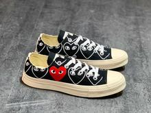 Converse All-star classic PLAY COMME des GARÇONS x Daily leisure High/Low Unisex Shoes high quality Canvas Skateboard Shoes