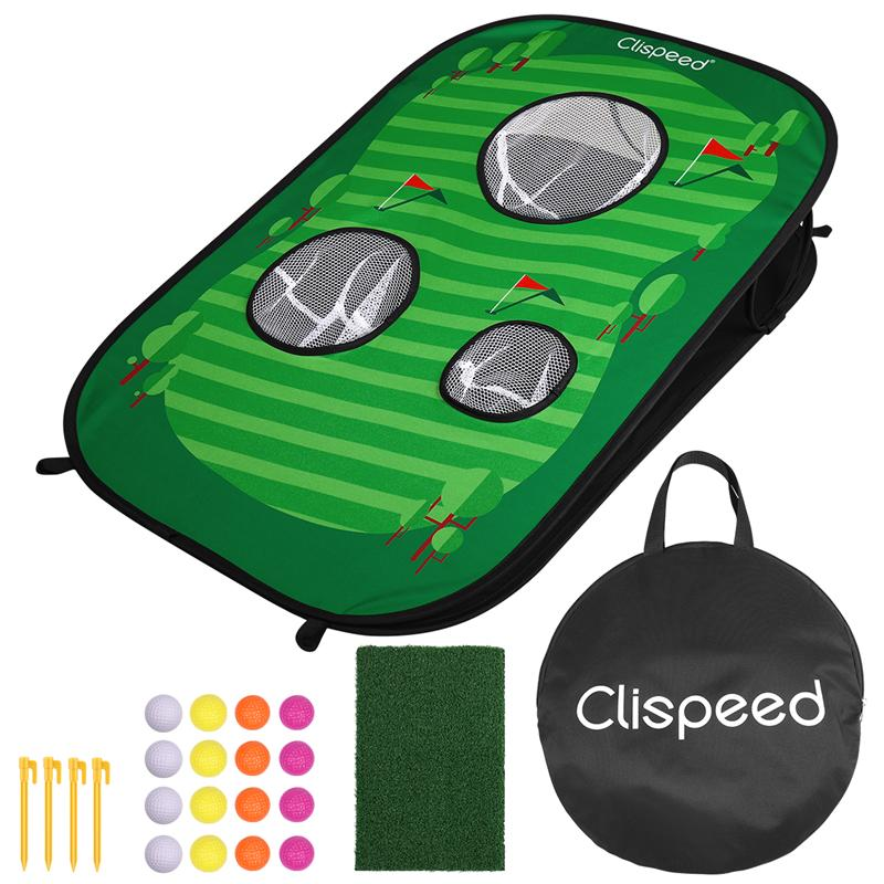 Foldable Golf Chipping Net Cornhole Game Set Golfing Target Net For Indoor Outdoor Practice Training Party Favors