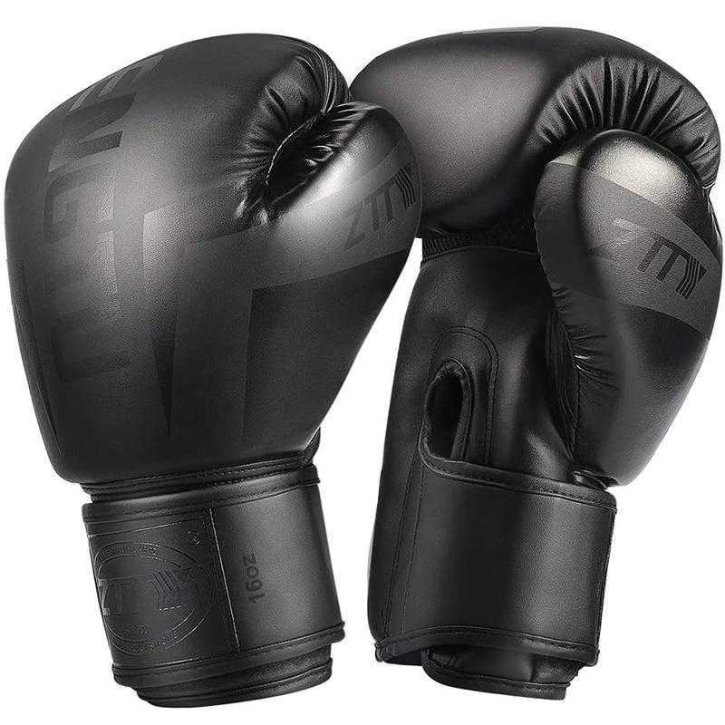 ZTTY Kick Boxing Gloves for Men Women PU Karate Muay Thai Guantes De Boxeo Free Fight MMA Sanda Training Adults Kids Equipment