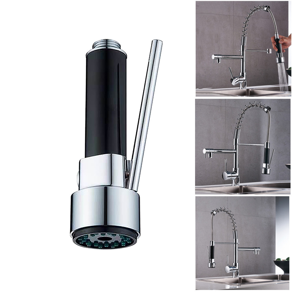 Kitchen Faucet Aerator Nozzle Faucet Adapter Modern Chrome Brass Kitchen Sink Pull Out Spray Faucet Mixer Tap Kitchen Accessory