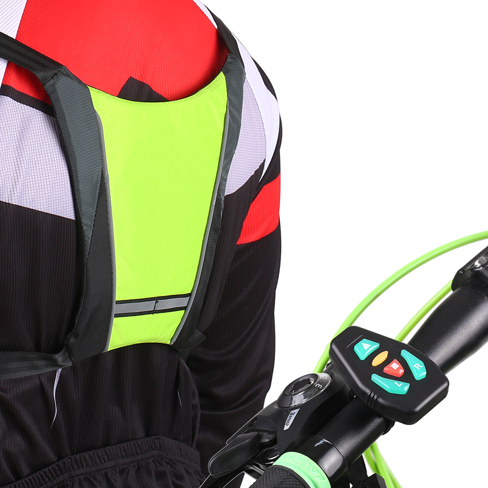 Turn Signal Wireless Remote Control For Reflective Vest Backpack For Cycling Running Walking Jogging