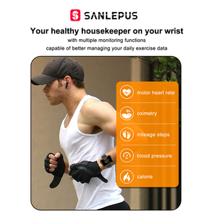 Image 4 - 2021 NEW SANLEPUS Smart Watch Men Women Smartwatch With Wireless Headphones Bluetooth Headphones Earbuds Sport Fitness Bracelet